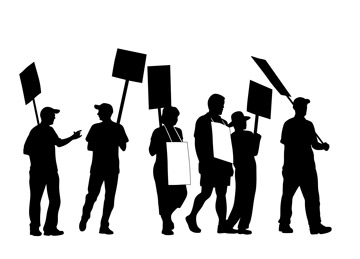 picketers