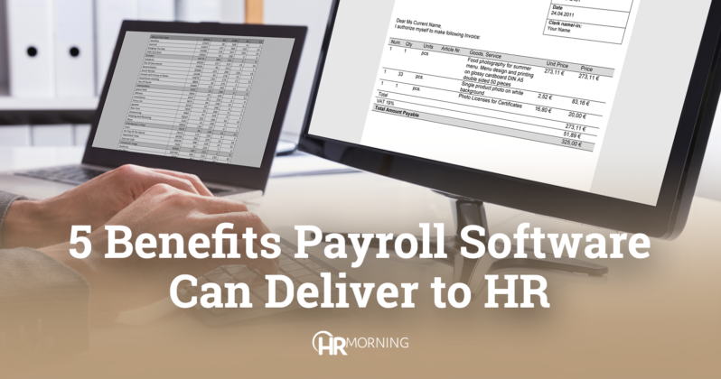 5 benefits payroll software can deliver to HR