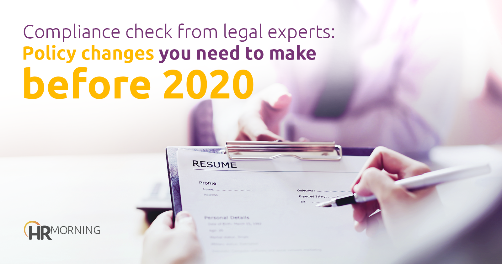 compliance check from legal experts policy changes to make before 2020