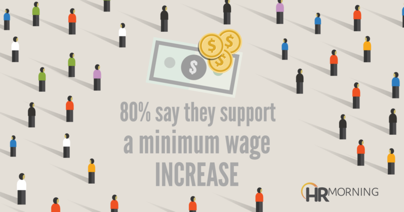80 percent say they support minimum wage increase