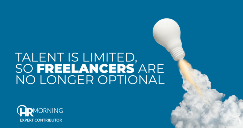 talent is limited so freelancers are no onger optional