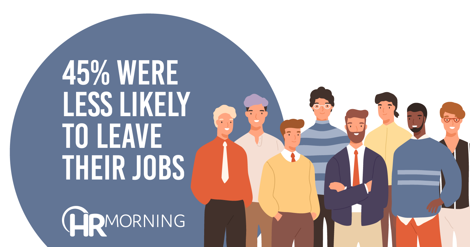 45% Were Less Likely To Leave Their Jobs