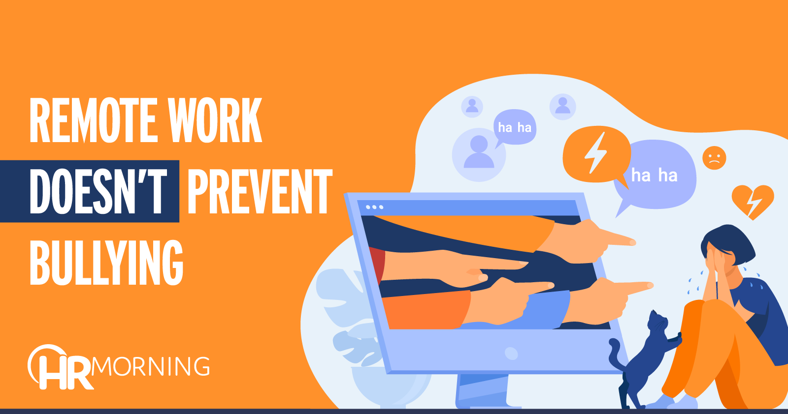 remote work does not prevent bullying